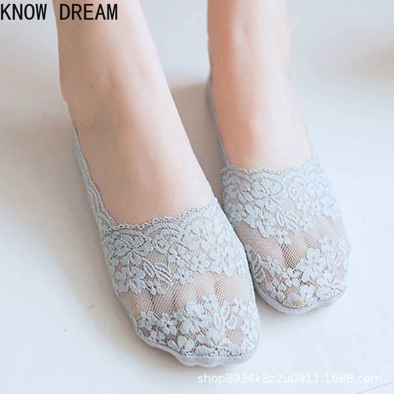 Кружевные носки знаменитостей, милые носки, прозрачные носки, женские носки с принтом, короткие носки