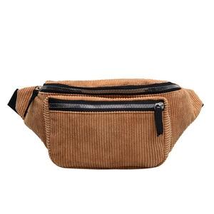 corduroy Waist Bag designer Zipper Chest Bag Sport travel Fanny Pack Girl Waist Belt Bags Fashion Phone Waist Pack for women