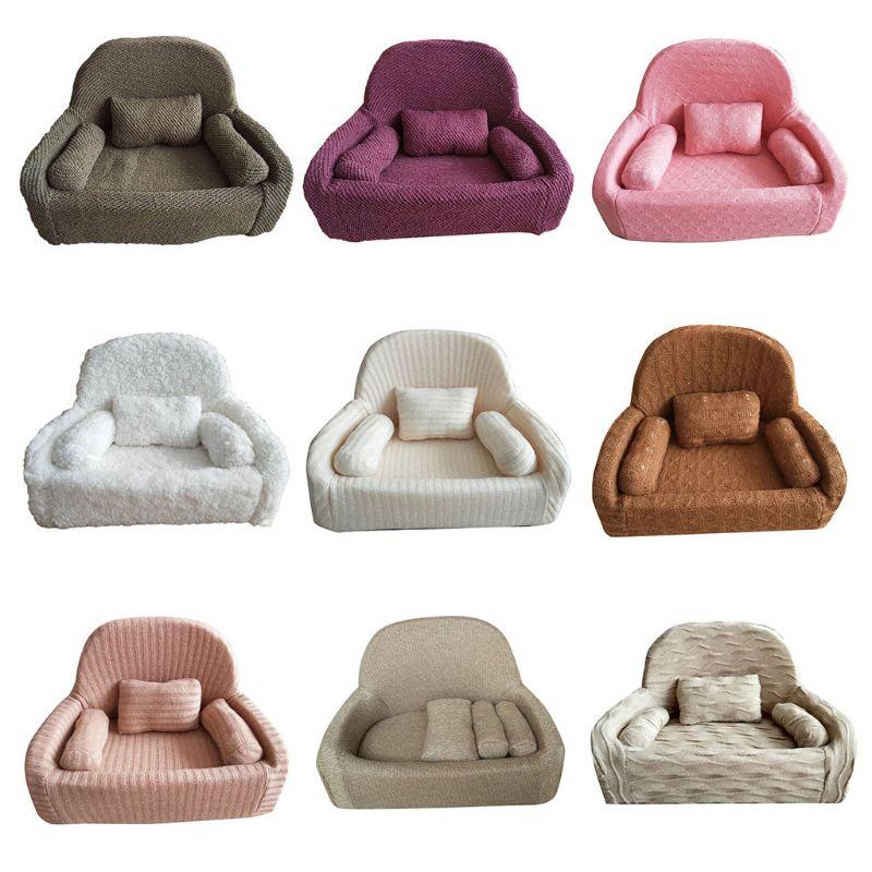 4 Pcs/Set Newborn Photography Props Baby Posing Sofa Pillow Infant Photo Shooting Chair Decoration Fotografia Accessory