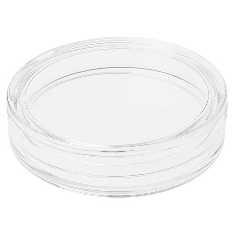 38.6mm Clear Round Acrylic Coin Capsule Storage Box Holder Case For Silver 2 oz