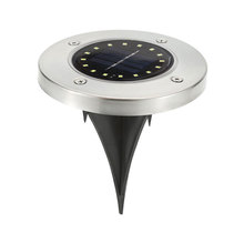 Ground Lamp Solar Power Walkway Lights Durable Disk Lights Buried Light 16 LED Light-Controlled IP65 Waterproof Security Gutter
