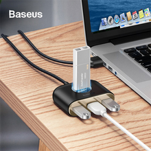 Baseus USB HUB 3.0 To Multi Splitter Adapter 4 Port with Micro Charging for Macbook Laptop Devices C Switch