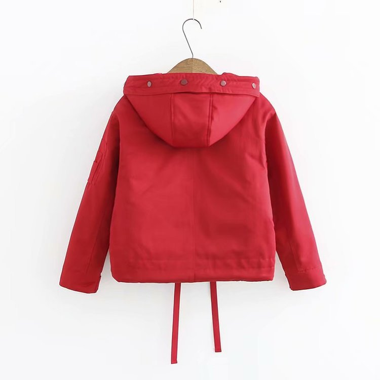 Winter Ulzzang Harajuku-Style Short Thick Loose-Fit Slimming Students Workwear Cotton Coat Cotton-padded Clothes outside