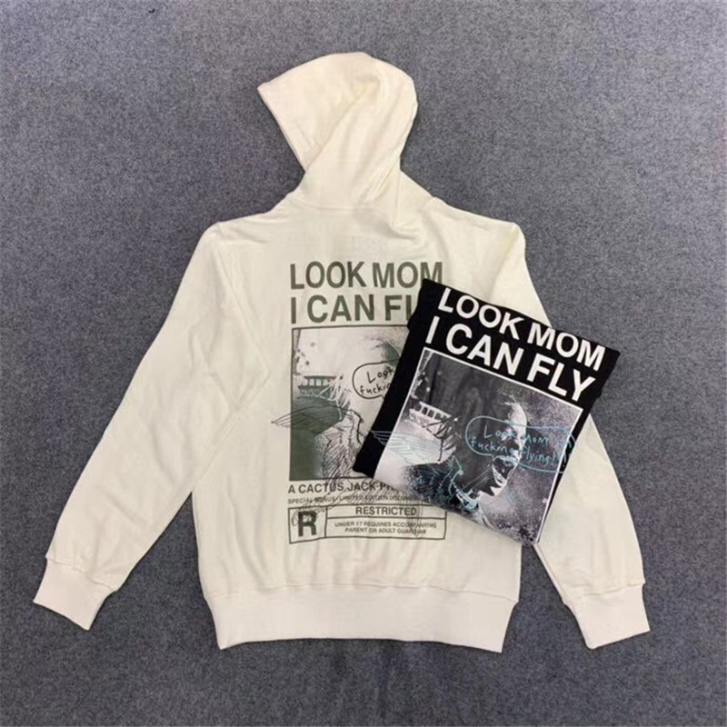 Travis Scott Look Mom i Can Fly Custom Hoodie Women Men Best Quality Sweatshirts Mens Casual ASTROWORLD Pullover