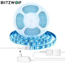 BlitzWolf BW LT11 LEDライトストリップLEDランプ4000K RGBWスマートアプリリモートコントロールライト防水音声コントロール照明Alexa GoogleアシスタンスEU / USプラグと連携