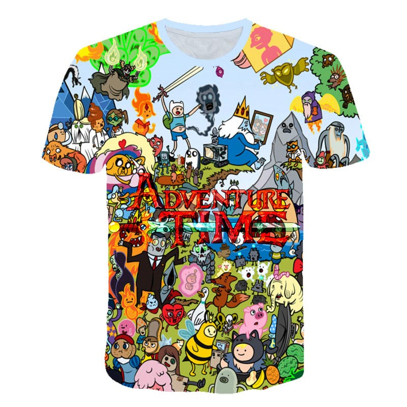 Summer new animation Adventure Time T-Shirt Finn and Jake <font><b>tshirt</b></font> kids The <font><b>dog</b></font> face funny Cartoon 3d print <font><b>Unisex</b></font> t shirt boys an image
