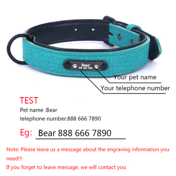 Personalized Dog Collars adjustable Soft Leather Custom Dog Collar   3