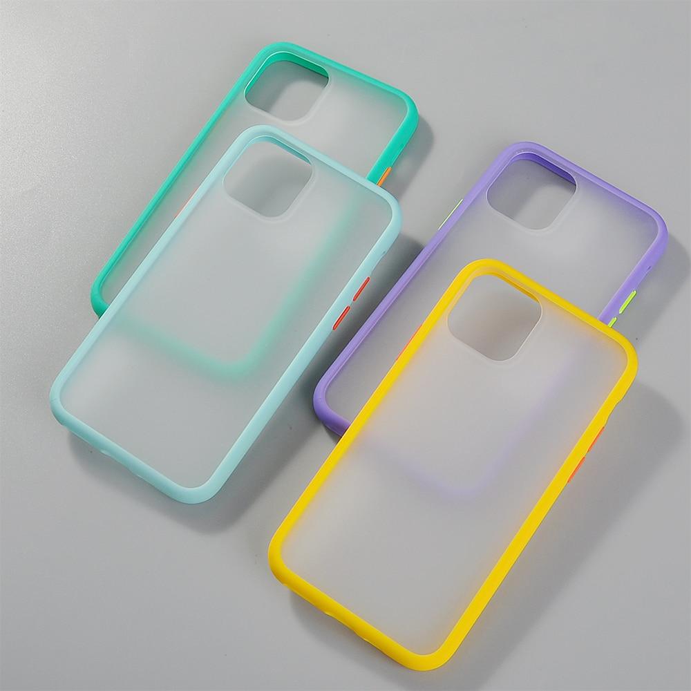 Hybrid Simple Matte Bumper Phone Case for iPhone 11 Pro Max Xr Xs Max 6s 8 7 Plus 4