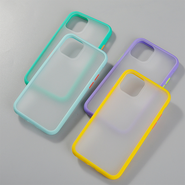 Simple Hybrid Matte Bumper Phone Case For Iphone 11 Pro Max Xr Xs Max 6s 8 7 Plus