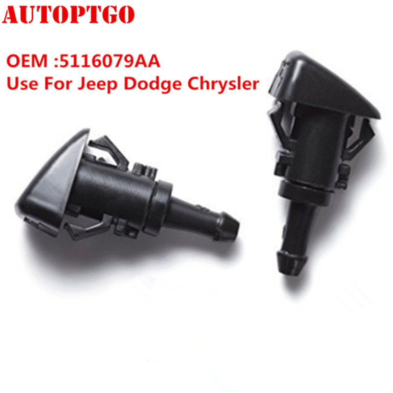 2 x Windshield Washer Nozzle Front For Chrysler,Dodge,JEEP COMPASS 5116079AA