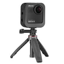 Ulanzi funda de Metal para Gopro Max, GM 3, portátil, 1:1, para Vlog, Zapata fría, con micrófono extendido, soporte de luz LED
