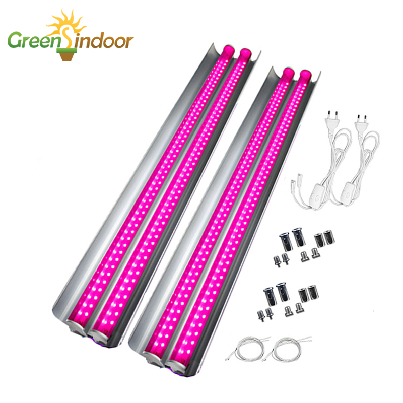 2pcs LED Grow Light Strips Full Spectrum Phyto Lamp For Plants T5 LED Lights For Indoor Growing For Flower Fitolampy For Plant