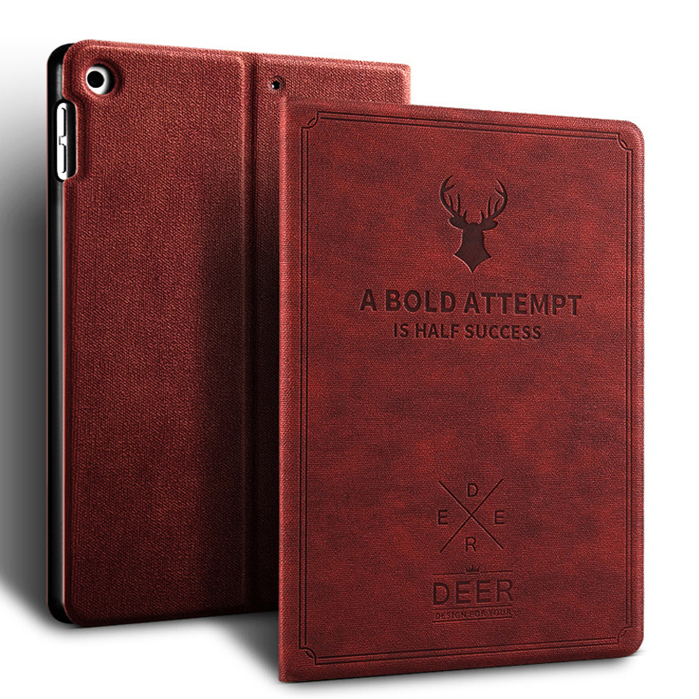Wine red Wine red Retro Deer Pattern style Case For iPad Air 4 10 9 2020 A2324 A2072 cover For