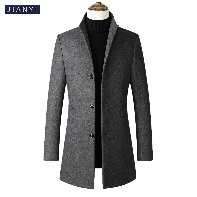 Mens Trench Coat 2019 Spring New Fashion Casual Stand Men Long Trench Coat Jacket Steampunk Mens Costume