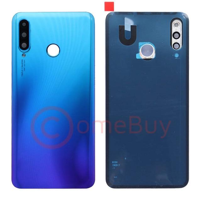 For Huawei P30 Lite Back Battery Cover Nova 4e Rear Glass Door Panel Case For Huawei P30 Lite Battery Cover+Camera Lens Replace 4