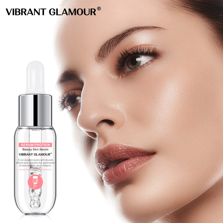 VIBRANT GLAMOUR Serum Protein Face Serum Anti-Wrinkle Facial Essence Whitening Moisturizing Anti-allergy Deep Hydration SkinCare
