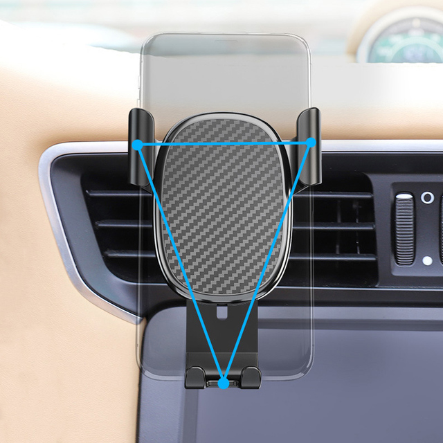 IQD Car Phone Holder Stand Gravity for iPhone Samsung Support Stand Steady Bracket for Huawei Xiaomi Mobile Phone Car Holder New 3