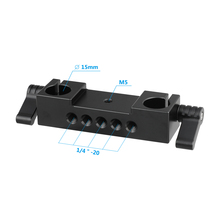 Kayulin Double-Rod Clamp 15mm Railblock With Double Locking Knobs For DSLR 15mm Rail Rod Rig Support System lanparte ofc 02 adjustable z shape offset clamp for 15mm rail system rig dslr video rig