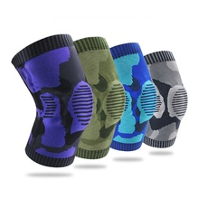 1 Pcs High Quality Silicone Spring Knee Pads Gym Fitness Brace Support Basketball Knitted Compression Elastic Sleeve