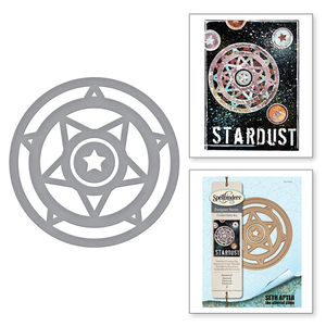 Circle Starstruck Background Nesting Frame 2020 Hot New Metal Cutting Dies Foil For Scrapbooking and Card Making Craft No Stamps(China)