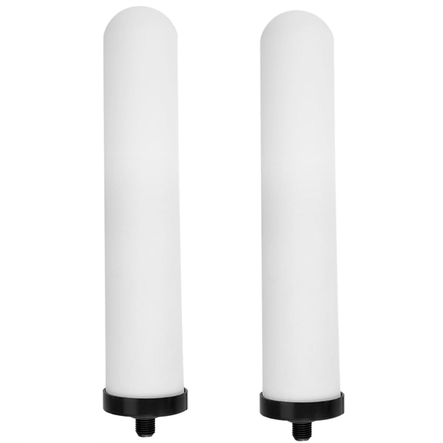 2Pcs/Set 10 Inch Ceramic Filter Cartridge Washable Activated Carbon Water Purifier Replacement Universal Shower System Bathroo