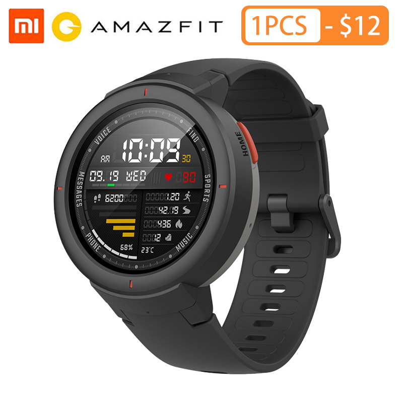 Huami Amazfit Verge Sport montre intelligente 3 GPS Bluetooth musique jouer appel réponse Message pousser moniteur de fréquence cardiaque-in Montres connectées from Electronique    1