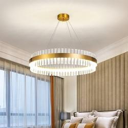 Modern Crystal Chandeliers LED Chandelier Round Pendant Light For Living Room Ceiling Chandelier Dining Room Light Fixtures Home