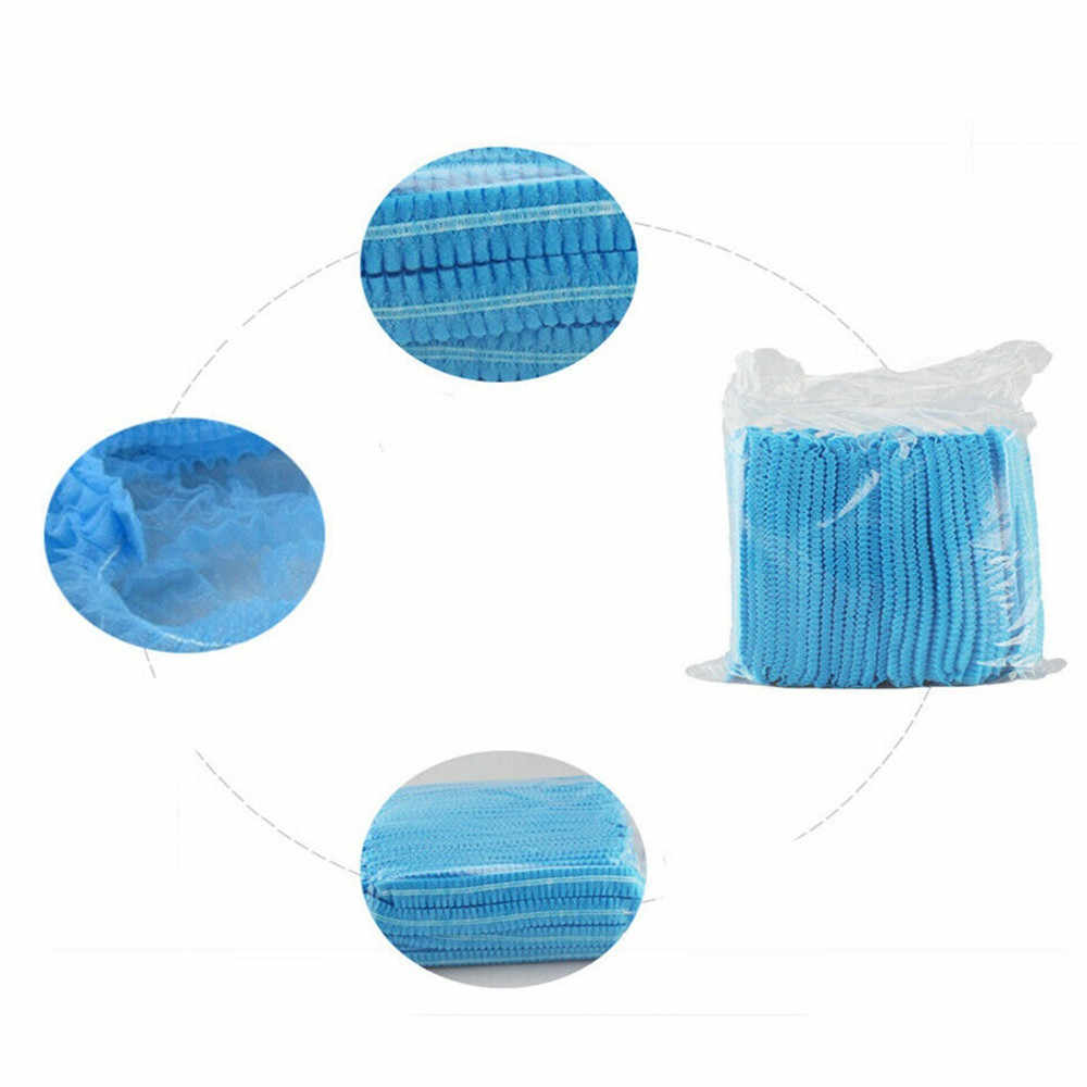 100pcs Usa E Getta Microblading Tessuto Non Tessuto Permanente di Trucco Dei Capelli Netto Caps Sterile Cappello Per Sopracciglio Tatuaggio Ristorazione Cappello