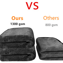 50X50CM 1300GSM Car Wash Towels Microfiber Washing Cleaning Cloth Care Polishing Plush Washing Drying Towel rags
