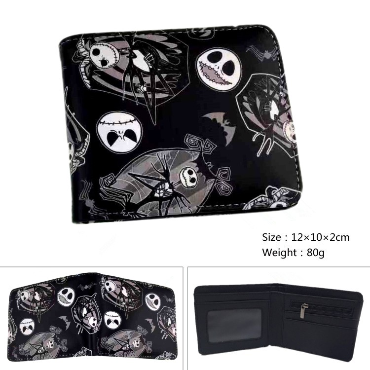 Anime Nightmare Before Christmas Wallet Jack Skellington Wallet Cartoon Short Coin Purse Bag Gift