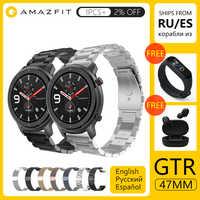 [Versione globale] In Magazzino 2019 Huami Amazfit GTR 47 millimetri 42 millimetri Astuto di GPS Della Vigilanza Degli Uomini di 5ATM Impermeabile smartwatch 24 Giorni Batteria