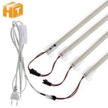 6 قطعة مجموعة عمود إضاءة LED ضوء التيار المتناوب 220 فولت/110 فولت سطوع عالية 8 واط 72 المصابيح 50 سنتيمتر توفير الطاقة LED أنابيب الفلورسنت.