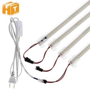 Image 1 - 6 قطعة مجموعة عمود إضاءة LED ضوء التيار المتناوب 220 فولت/110 فولت سطوع عالية 8 واط 72 المصابيح 50 سنتيمتر توفير الطاقة LED أنابيب الفلورسنت.
