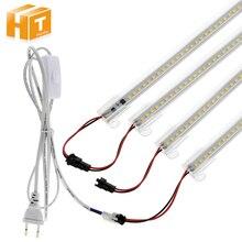 6 個セットledチューブac 220v/110v高輝度 8 ワット 72led 50 センチメートルエネルギー省led蛍光管。