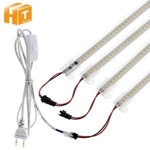 Image 1 - Ensemble de 6 pièces, Tubes LED fluorescents 220, haute luminosité, 8W, 72 110 s, 50cm, économie dénergie LED V/LED V