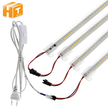 Juego de tubos LED de alto brillo, conjunto de 6 uds. De tubos fluorescentes LED de ahorro de energía de 220V / 110V ca, 8W, 72LED, 50cm