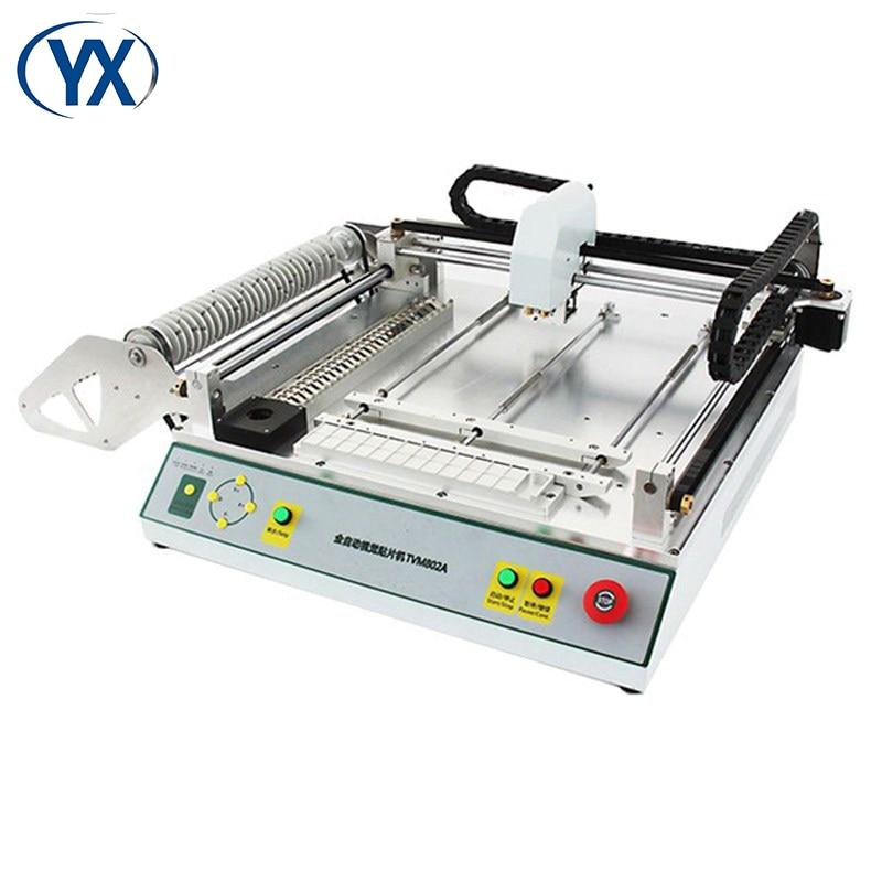 Máquina pequena multifunction da picareta e do lugar da visão automática tvm802a com sistema da montagem de superfície dos alimentadores da vara de 29 smt