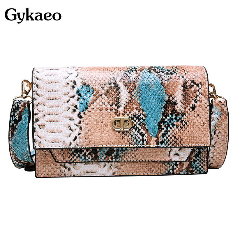2020 Summer Fashion Small Shoulder Bag Ladies Snake Pattern Party Evening Clutch Purses Women Casual Messenger Bag Sac A Main