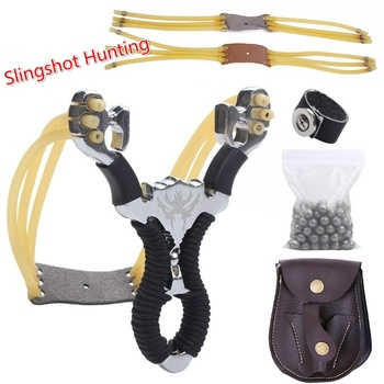 Powerful Sports Outdoor Stainless Steel Slingshot Set with Steel Balls Ammo Bag Outdoor Hunting Catapult Powerful Slingshot Bow 1