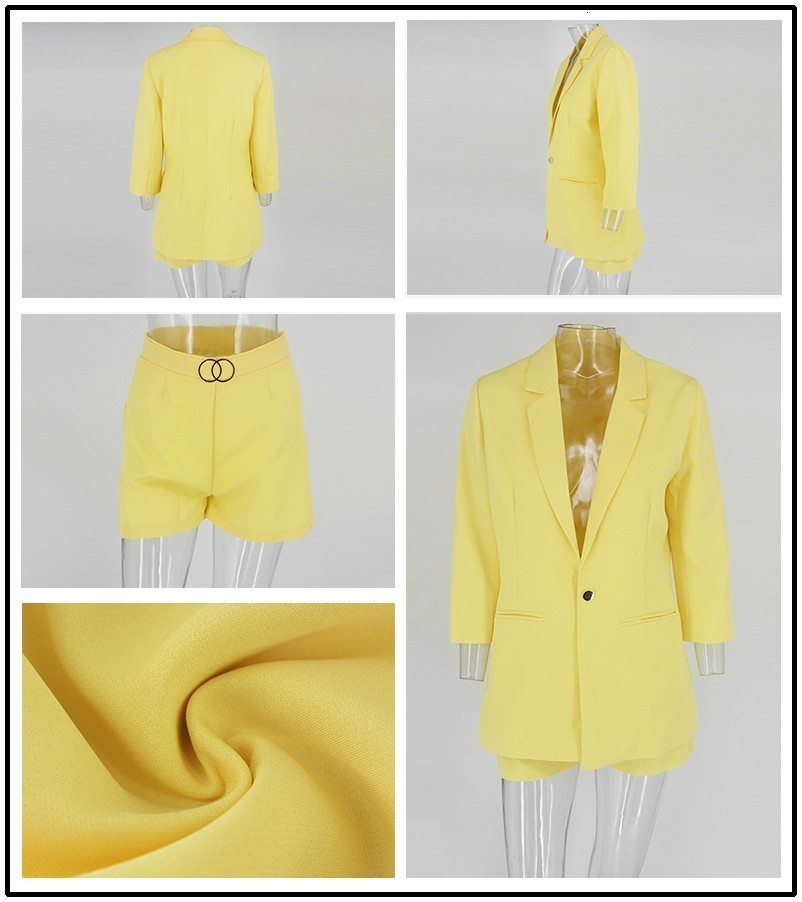 PFFLOOK Work Ol Suit Female Blazer And Pants Suit Set Female Coat V Neck Sexy Chic Suit Women Office Set 2 Pieces Outfits Female 5