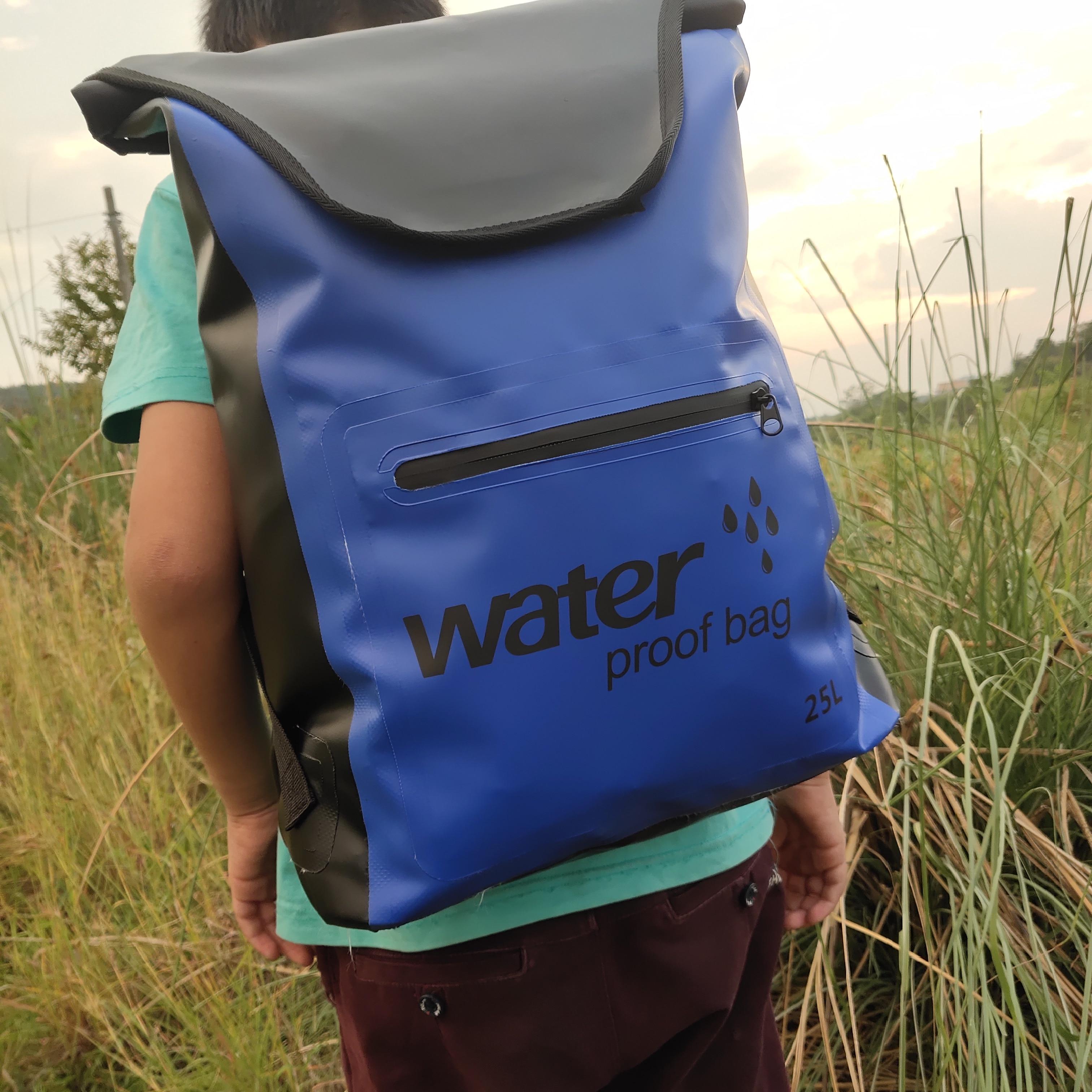 25LpvC Mesh Cloth Thickened Watertight Bag Backpack Bucket Drying Bag