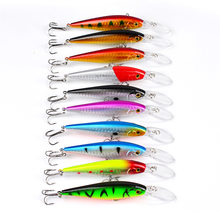 1pcs Fishing Lure Deep Swim Hard Bait Fish Tackle 11.5CM 10.5G Float Minnow Fishing Wobbler Japan Pesca Crankbait 10 colors(China)