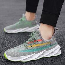 Мужчины кроссовки высокое качество мужчины нескользящей удобная повседневная обувь сетки дышащий открытый прогулки мужчин на шнуровке