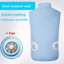 새로운 USB 팬 냉각 하이킹 조끼 낚시 사이클링 조끼 에어 컨디셔닝 작업 야외 빠른 냉각 조끼 여름 냉각 남자/여자