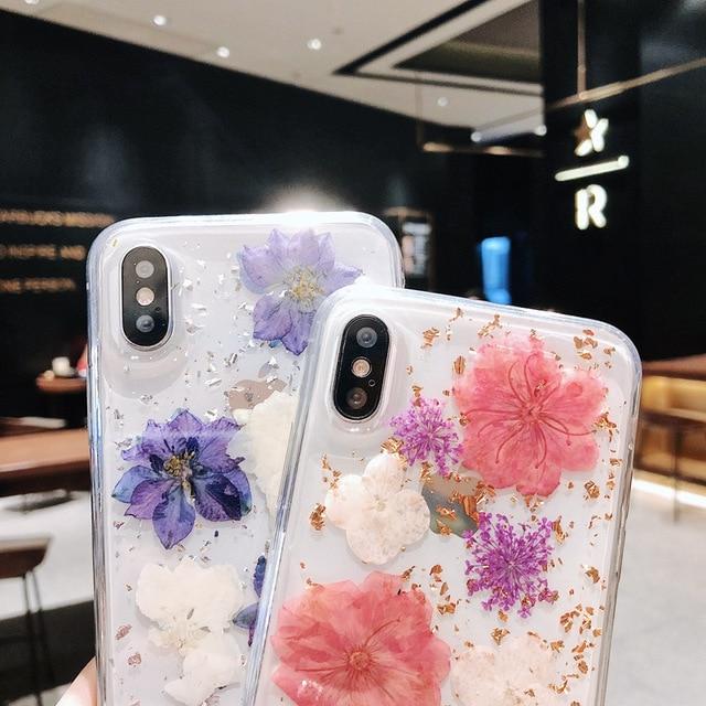Pétale spécimen Anti-chute étui de téléphone pour Iphone 6 étui Iphone 7 étui Iphone 7 Plus étuis Iphone 8 Plus étui de luxe suprême