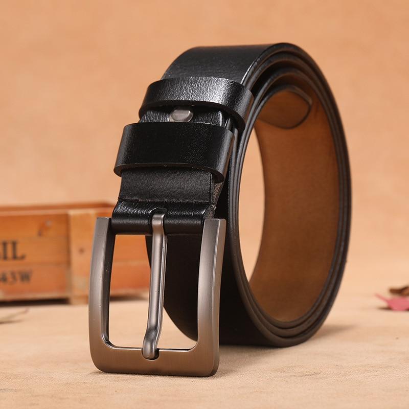 Genuine Leather Belt Men Luxury Designer Strap Brand Belts For Male Vintage High Quality Cowhide Fashion Cummerbunds
