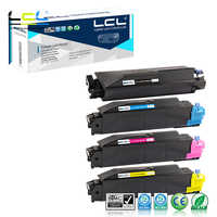 LCL TK-5140 TK5140 C M Y 1T02NR0NL0 (4-Pack  KCMY) Toner Cartridge Compatible forKyocera ECOSYS M-6530cdn M-6030cdn P-6130cdr