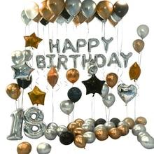 Big deal 90Pcs Happy 18 Birthday Foil Number Balloons Metallic Globos 18Th Anniversary Birthday Party Decor Supplies