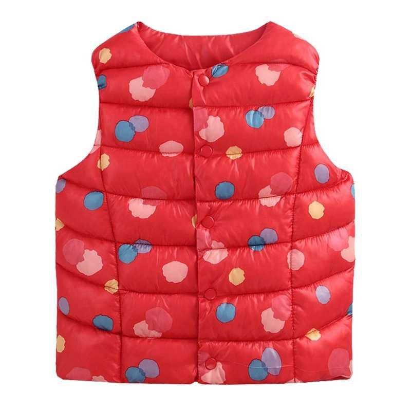 ילדים חורף אפוד ילדי בנות פרחוני הדפסת מעיל חורף בני תינוק חם הלבשה עליונה מעילי ילדי תלבושות