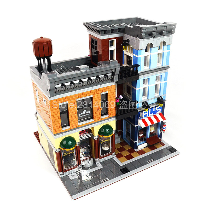 15011 2262Pcs City Street The Detective's Office Set Avengers Set Assemble Building Blocks Toys Compatible With 10246